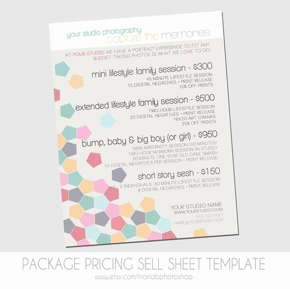 Sell Sheet Template Free Fresh Clearance Sell Sheet Packages Pricing Template by