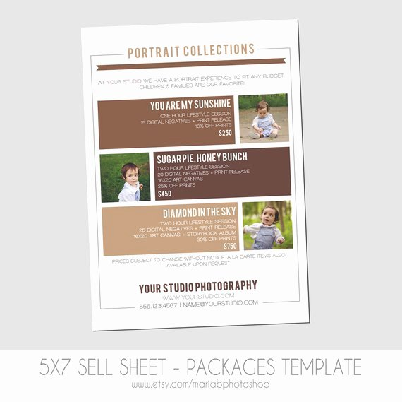 Sell Sheet Template Free Inspirational Sell Sheet Collections or Packages Pricing by Mariabpaints