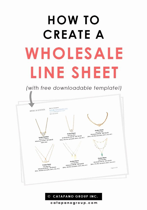Sell Sheet Template Free Unique How to Create A wholesale Line Sheet