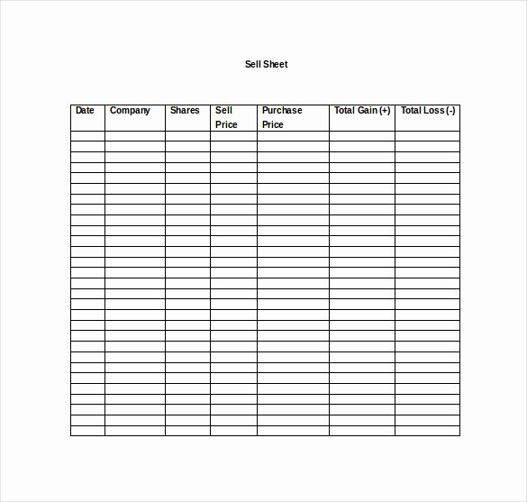 Sell Sheet Template Free Unique Sell Sheet Template 10 Free Word Pdf Documents