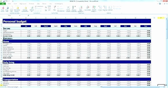 Semi Monthly Budget Template Awesome Excel Bi Monthly Bud Template – Teran