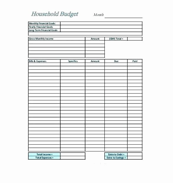 Semi Monthly Budget Template Inspirational Bi Monthly Bud Spreadsheet Weekly Bud Excel Sample