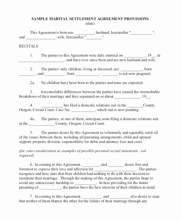 Separation Agreement Nc Template Lovely Separation Papers Template