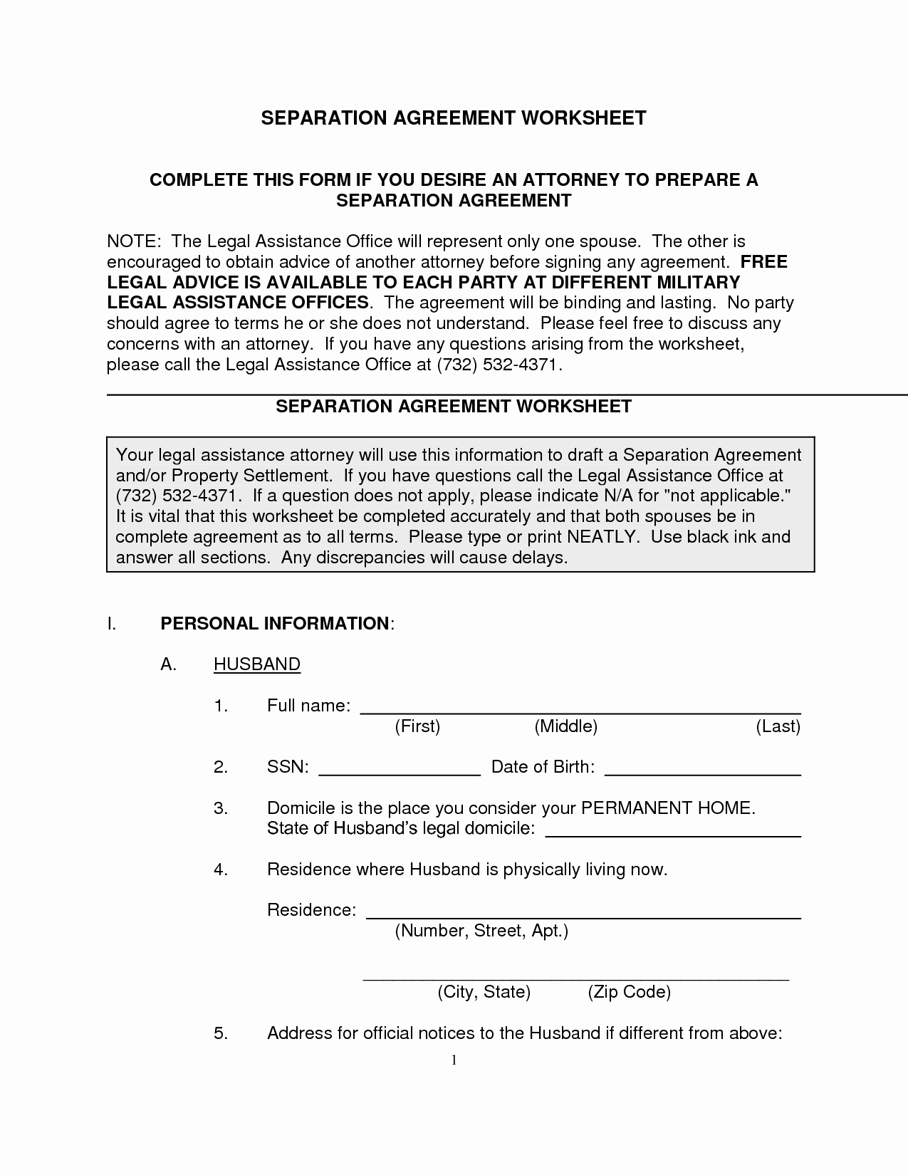 Separation Agreement Nc Template Unique Free Legal Separation Agreement form Nc Nc Fice Of the