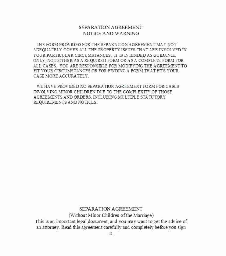 Separation Agreement Template Nc Elegant Separation Document Template – Vungtaufo