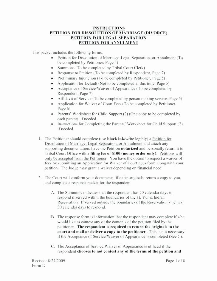Separation Agreement Template Nc Luxury Sample Separation Agreement forms 8 Free Documents In