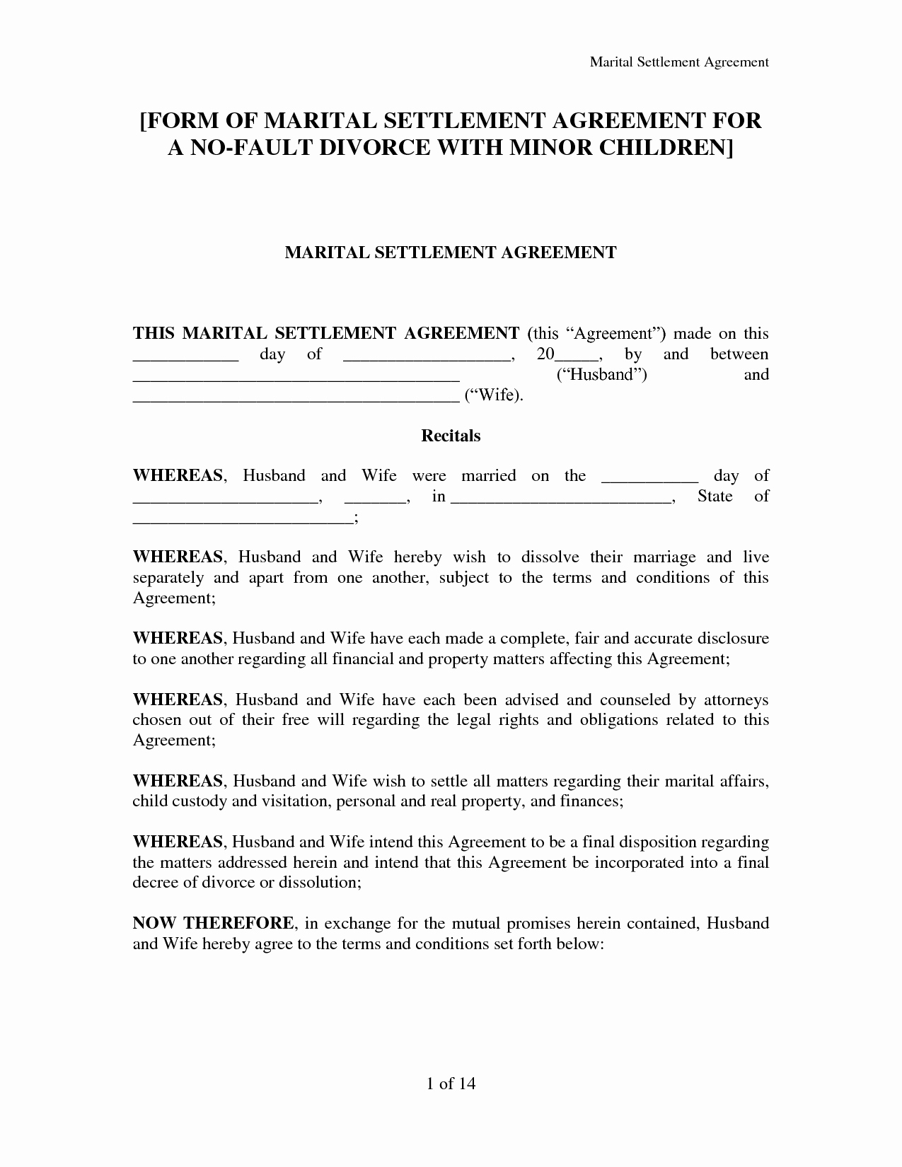 Separation Agreement Template Nc Unique Best S Of Free Marital Separation Agreement forms