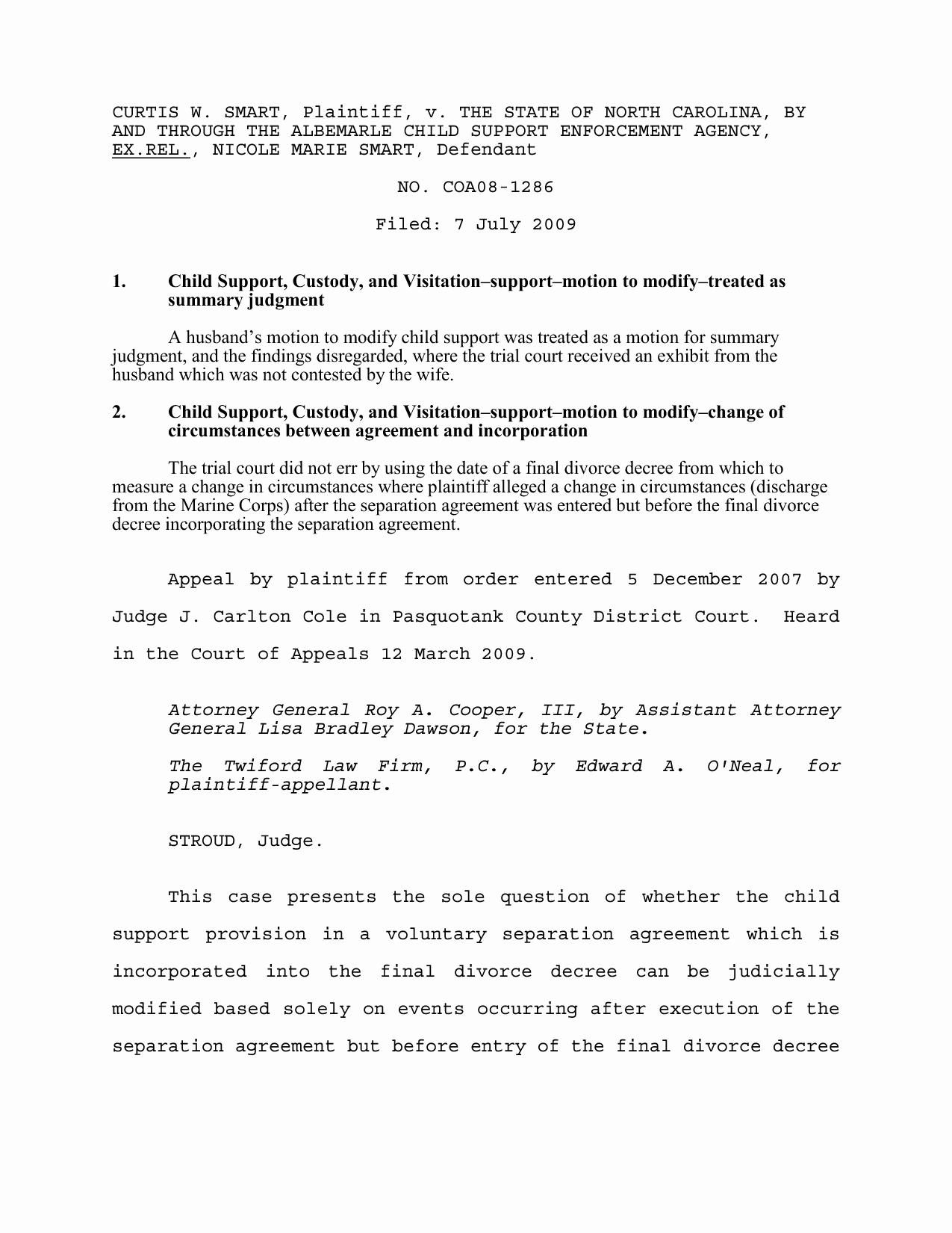 Separation Agreement Template Nc Unique Best S Of Marriage Separation Agreement north