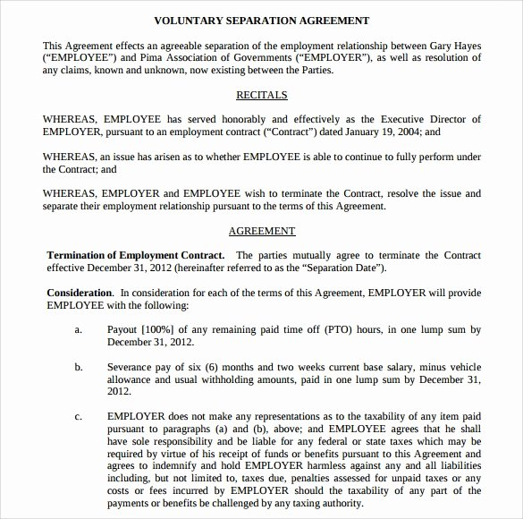 Separation Agreement Template Word Awesome Separation Agreement Template 8 Download Free Documents