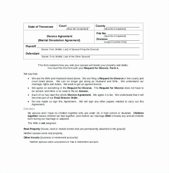 Separation Agreement Template Word Best Of Separation Document Template Separation Agreement Template