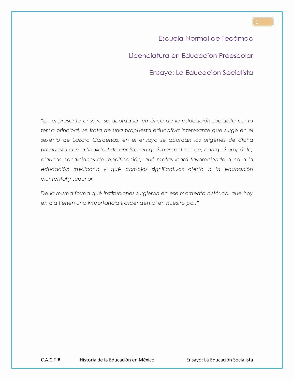 Sermon Template Microsoft Word Fresh La Educacion socialista En Mexico Blog by Cinthya Ct issuu