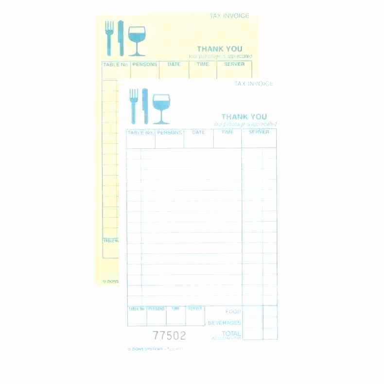 Server order Pad Template Awesome Restaurant order Pad Template