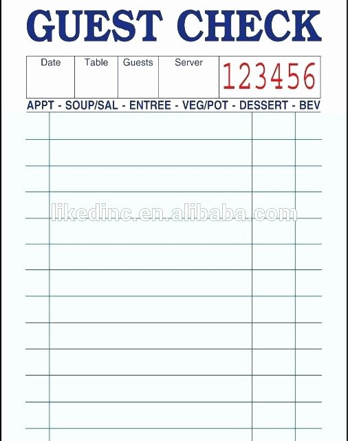 Server order Pad Template Inspirational Server order Pad Waitress order Pad Template – Ready2launch