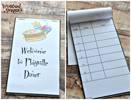 Server order Pad Template New Kids In the Kitchen Playing Diner Frosted Fingers