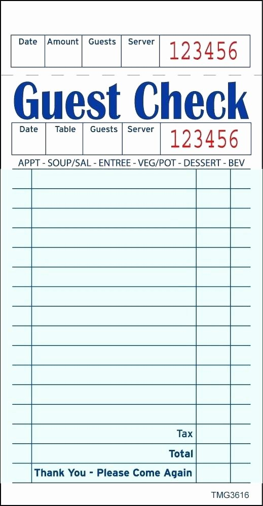 Server order Pad Template Unique order Pad Template Restaurant Sheet Server Printable