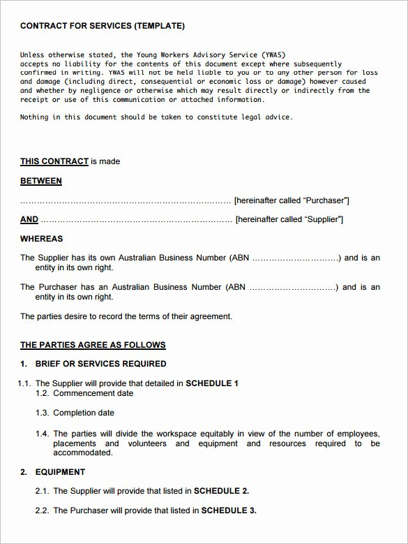 Service Agreement Template Doc Best Of 12 Service Contract Templates Pdf Doc