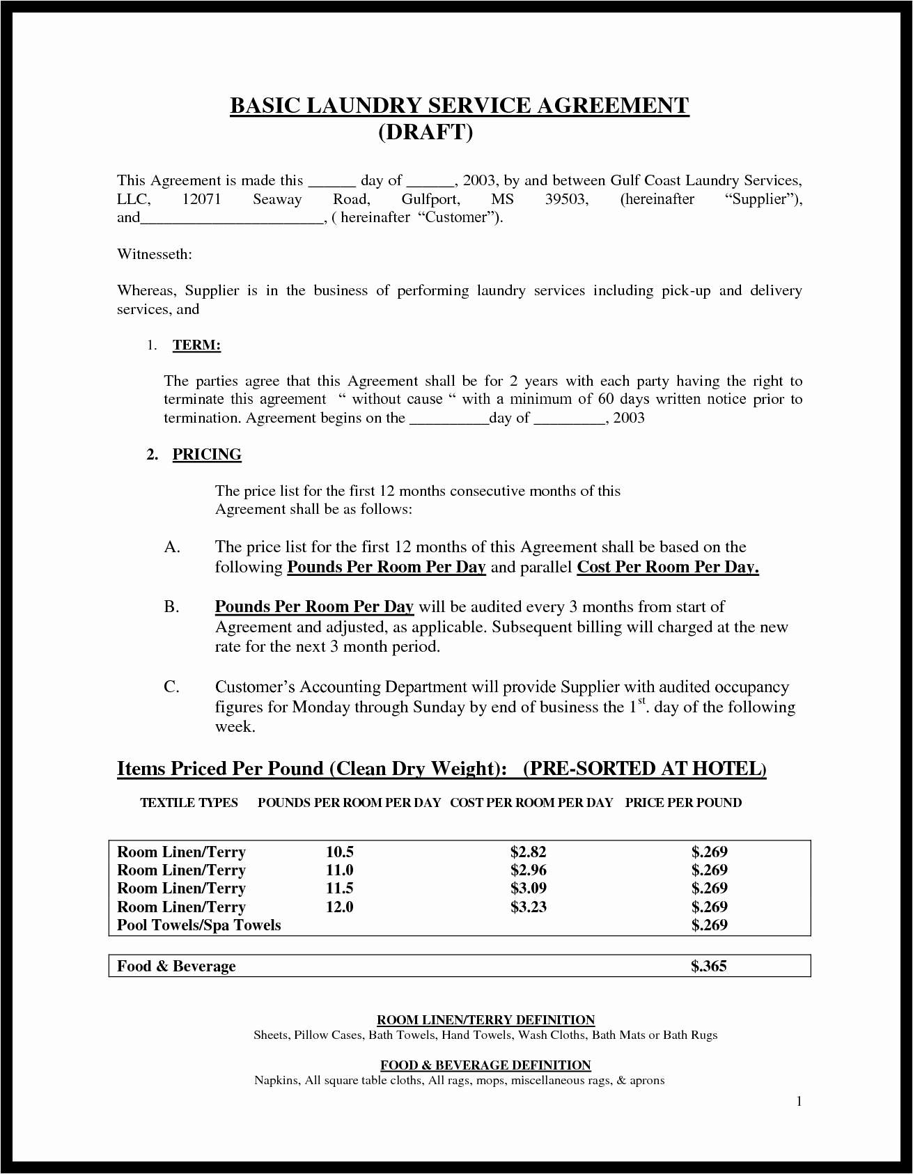 Service Agreement Template Doc Lovely Basic Service Contract Mughals