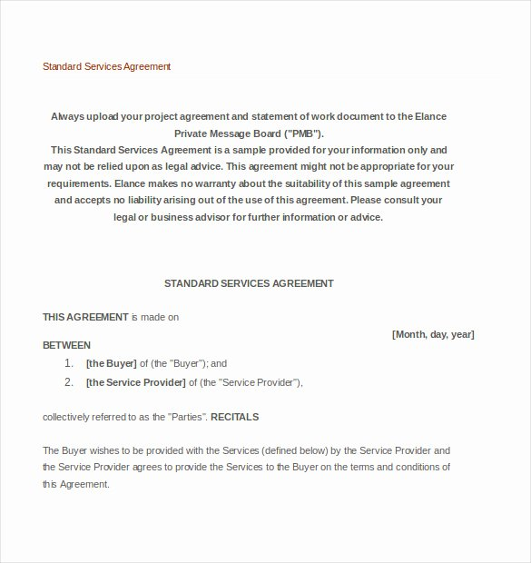 Service Agreement Template Doc Luxury 35 Service Agreement Templates Word Pdf