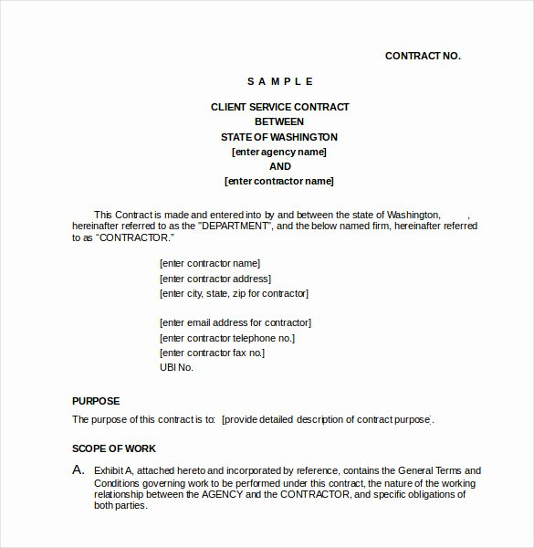 Service Agreement Template Doc New 23 Simple Contract Template and Easy Tips for Your