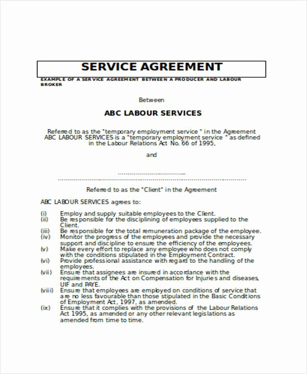 Service Contract Template Doc Beautiful 5 Service Contract Samples In Word