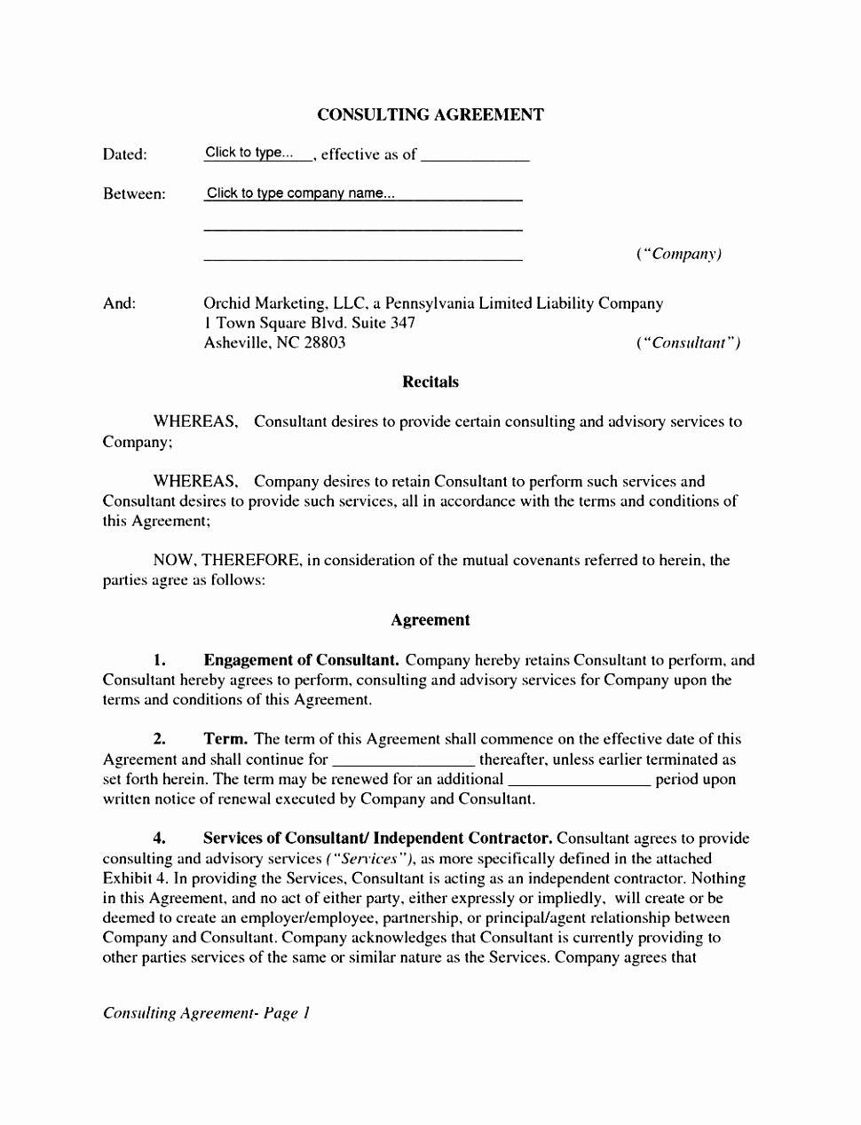 Service Contract Template Doc Beautiful 5 Simple Contract for Services Template Free Pixoe