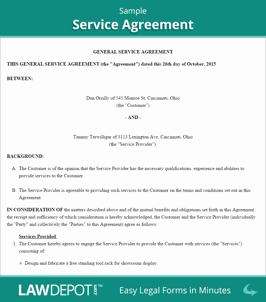 Service Contract Template Doc Lovely Free Service Agreement Create Download and Print
