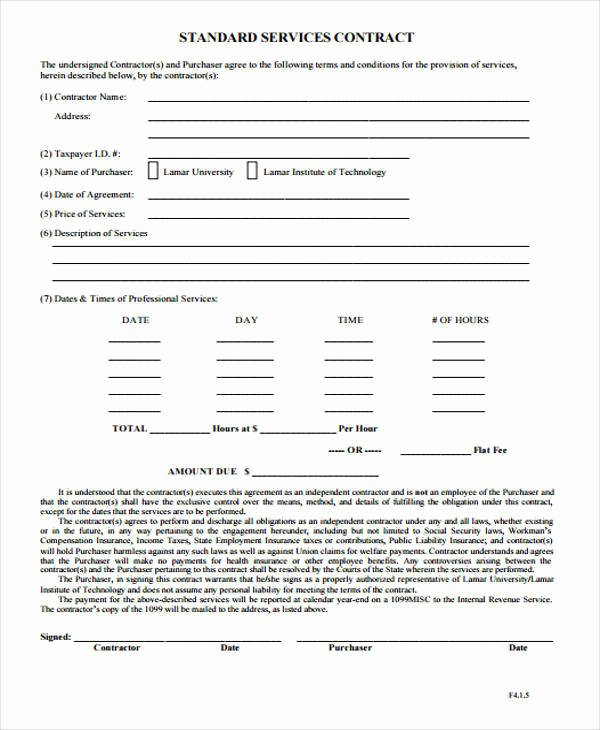 Service Contract Template Doc New 28 Contract Templates In Doc