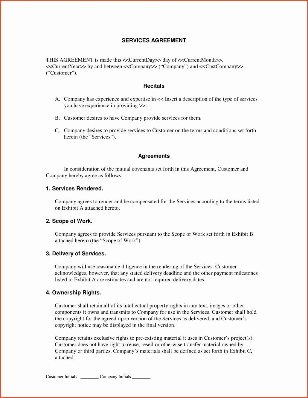 Service Contract Template Doc Unique Sample Service Contract Proposal Cover Letter Samples