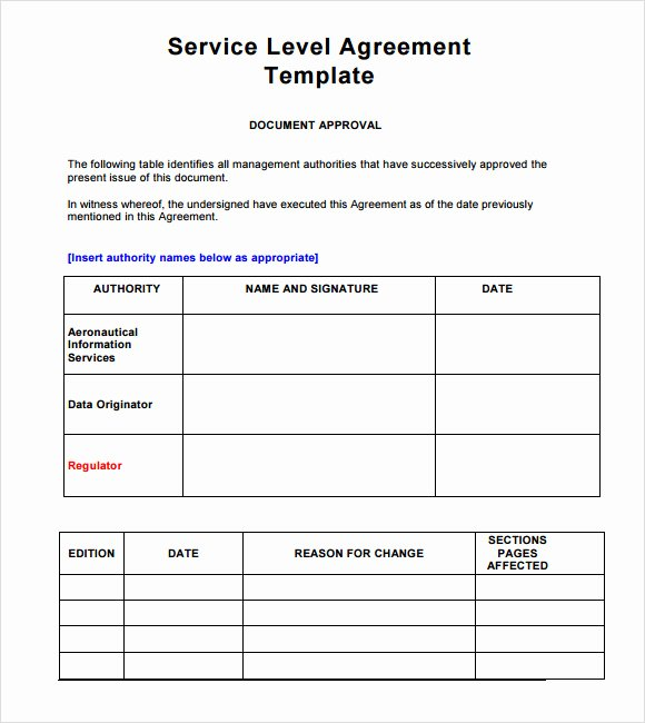 Service Contract Template Pdf Awesome 16 Service Level Agreement Samples Word Pdf