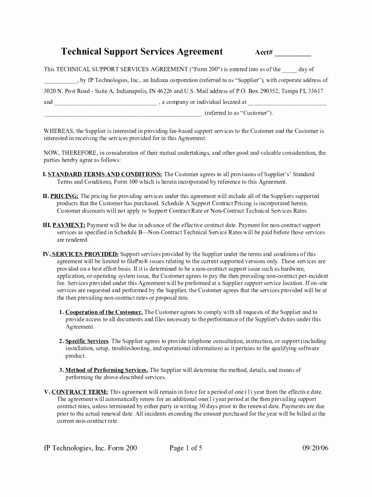 Service Contract Template Pdf Awesome Basic Service Contract Mughals