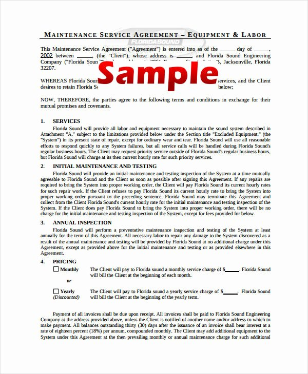 Service Contract Template Pdf Unique 10 Simple Service Agreements Word Pdf