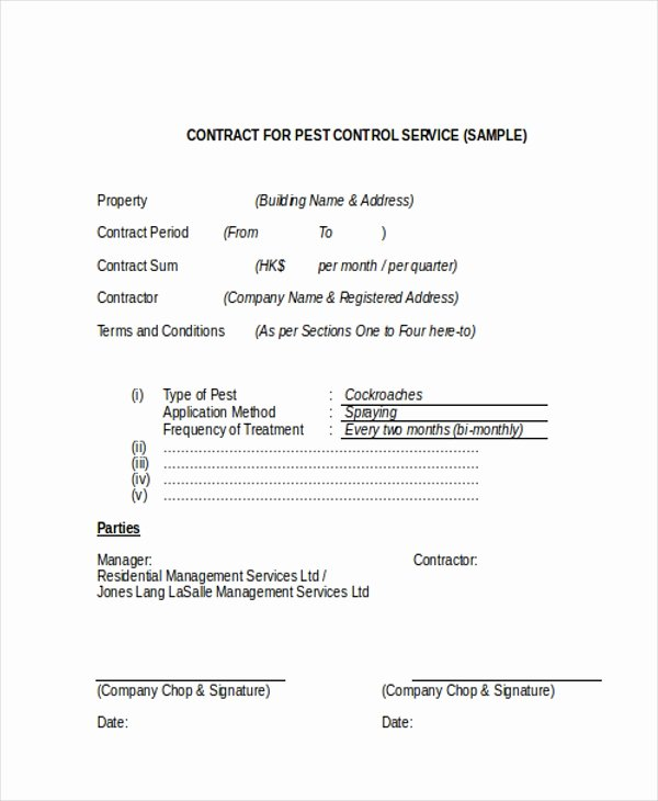 Service Contract Template Pdf Unique Sample Service Contract form 9 Free Documents In Doc Pdf