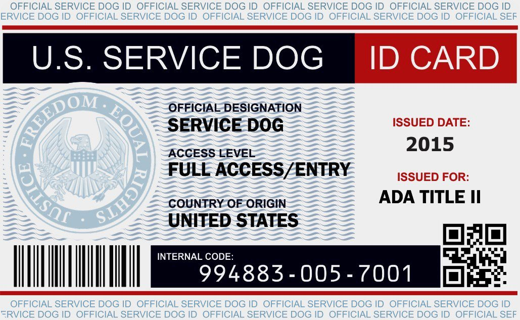 Service Dog Card Template Elegant Animal Id Card Template 28 Images Emotional Support
