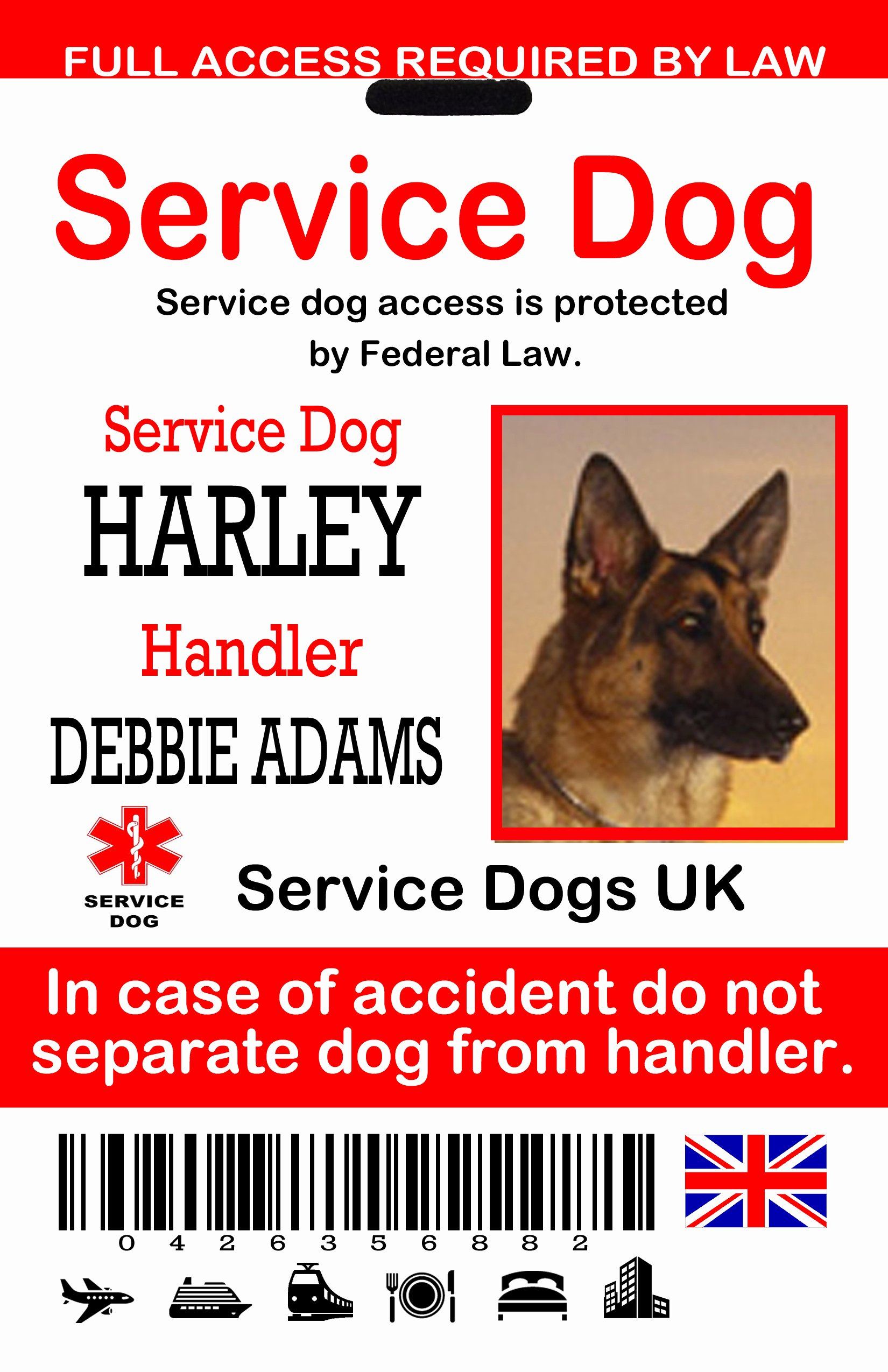 Service Dog Card Template New Service Dog Card Template Goldenacresdogs