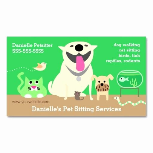 Service Dog Card Template Unique 37 Best Pet Sitting Business Cards Images On Pinterest