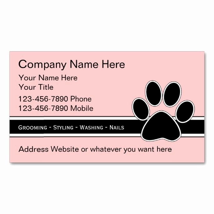 Service Dog Card Template Unique top 25 Ideas About Animal Pet Care Business Card Templates