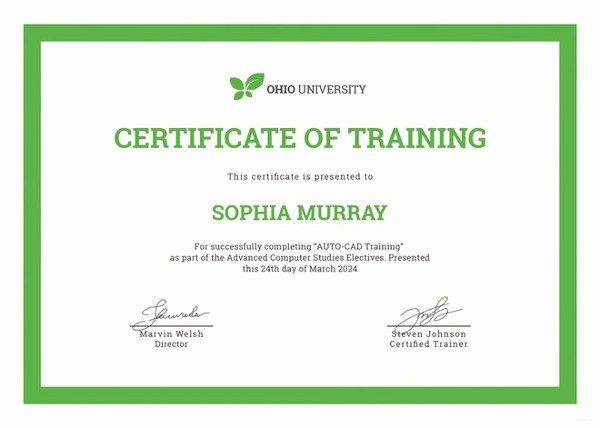 Service Dog Certificate Template Beautiful Training Certificate Template 27 Free Word Pdf Psd