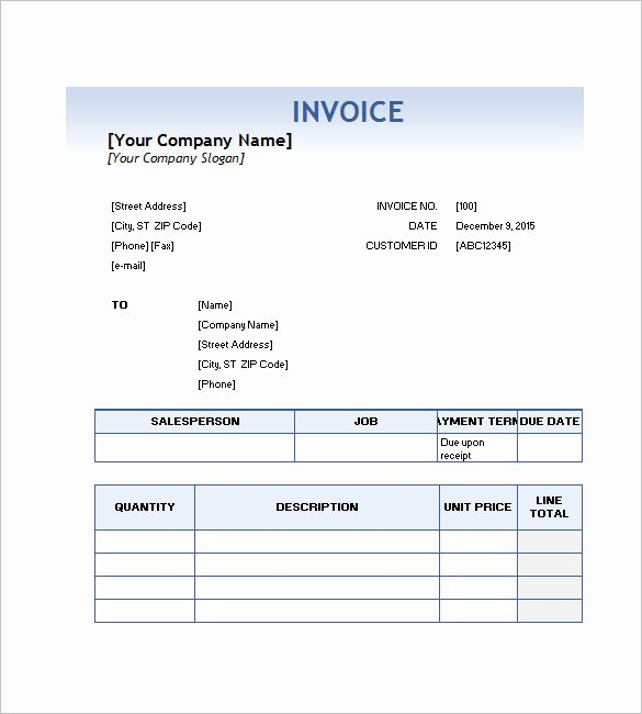 Service Invoice Template Free Awesome Service Invoice Templates – 11 Free Word Excel Pdf
