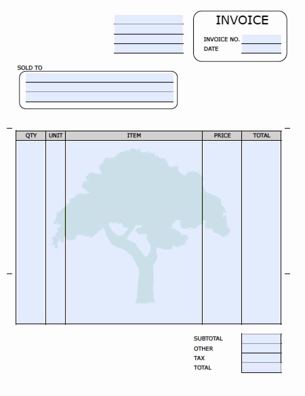 Service Invoice Template Free Unique Free Landscaping Lawn Care Service Invoice Template