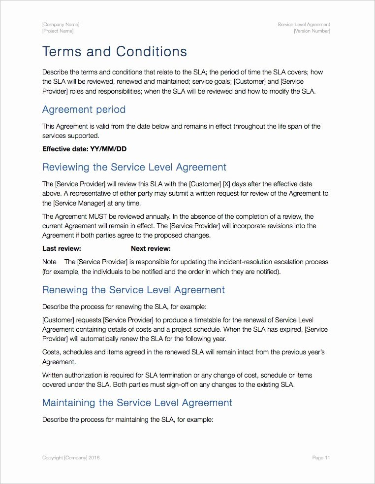 Service Level Agreement Template Elegant Service Level Agreement Template Apple Iwork Pages Numbers