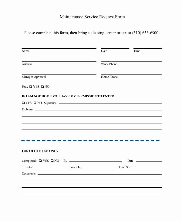 Service Request form Template Elegant 41 Sample Service forms