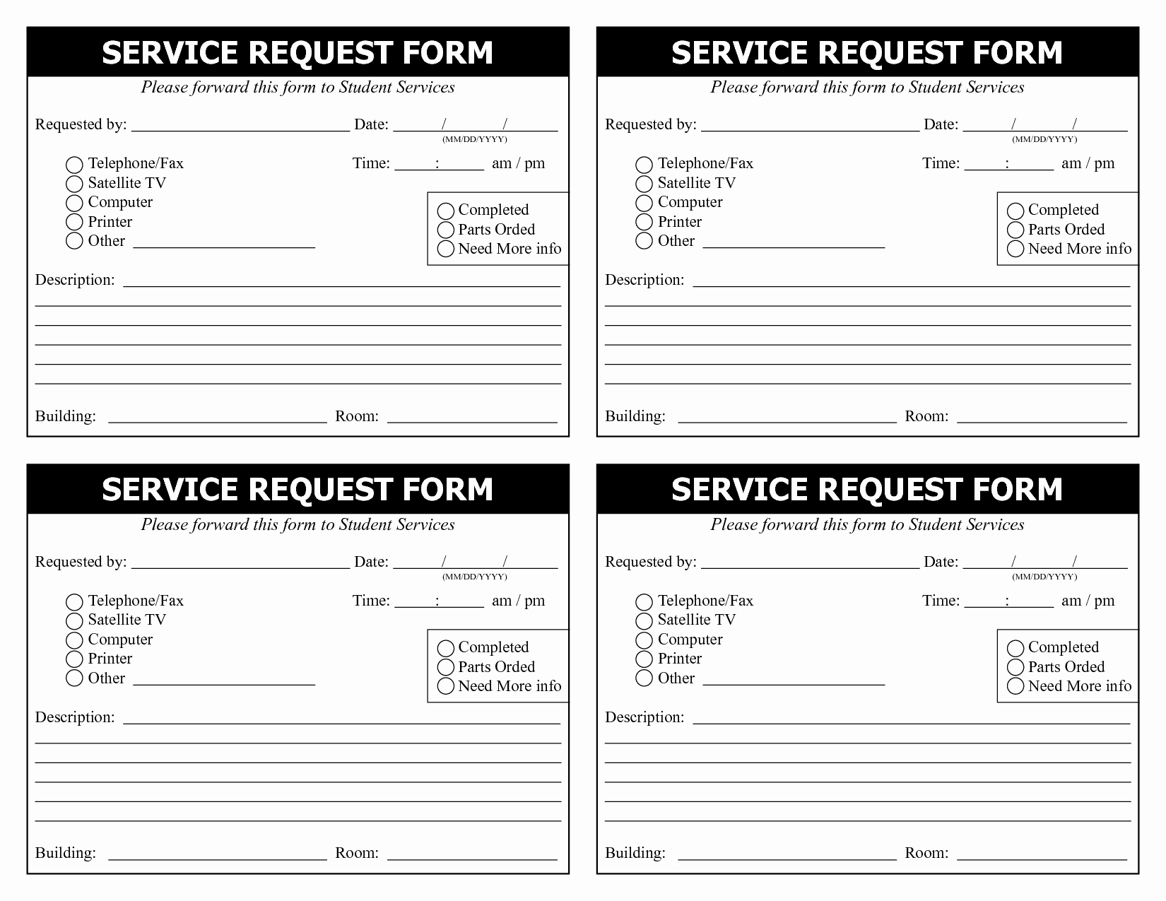 Service Request form Template Inspirational 28 Of Service Request Template