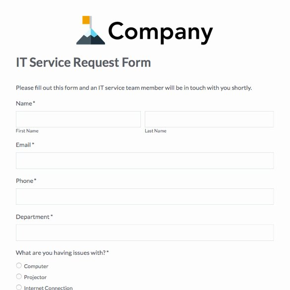 Service Request form Template Inspirational form Printable Conference Registration form Template