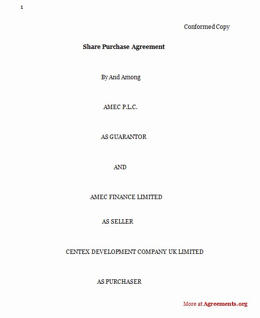 Share Purchase Agreement Template Beautiful Purchase Agreement Sample Purchase Agreement