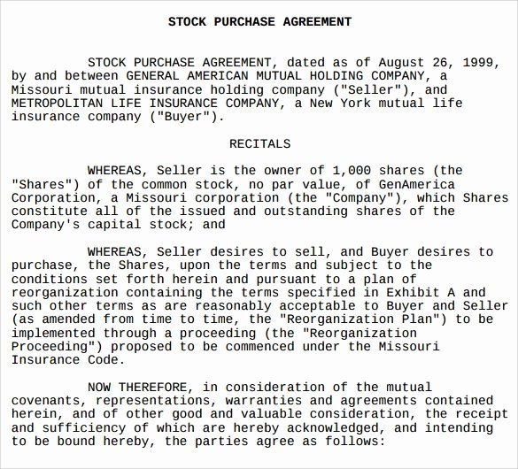 Share Purchase Agreement Template New 10 Stock Purchase Agreement Templates – Samples Examples