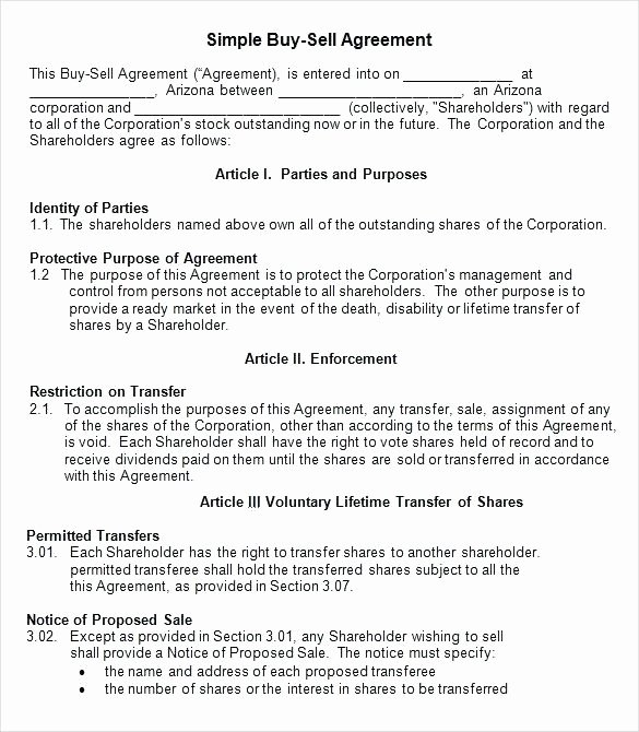 Share Purchase Agreement Template Unique Purchase Agreement Template Free Simple Holders