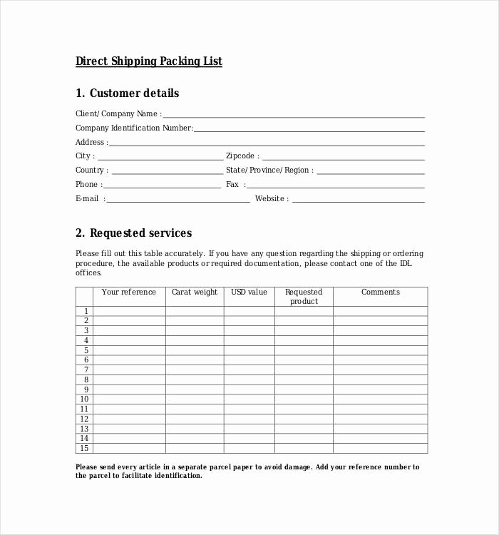 Shipping Packing List Template Awesome 24 Packing List Templates Pdf Doc Excel