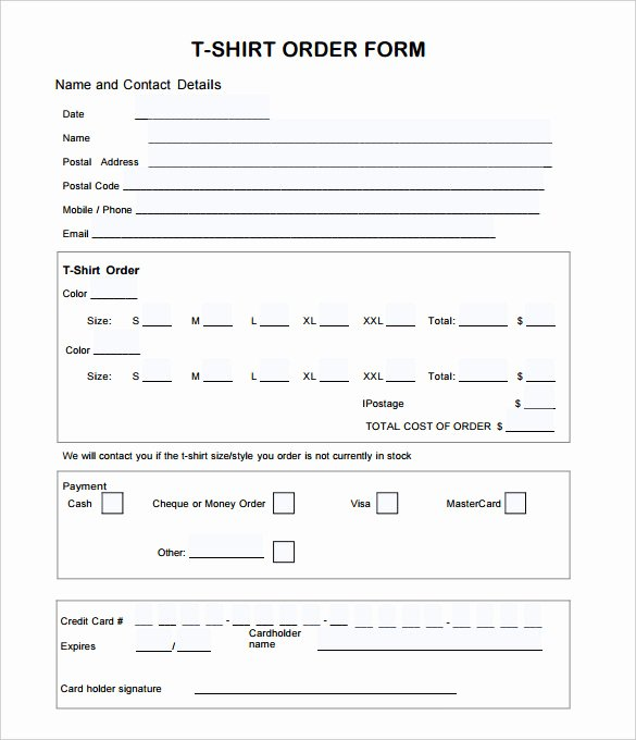 Shirt order form Template Unique 26 T Shirt order form Templates Pdf Doc