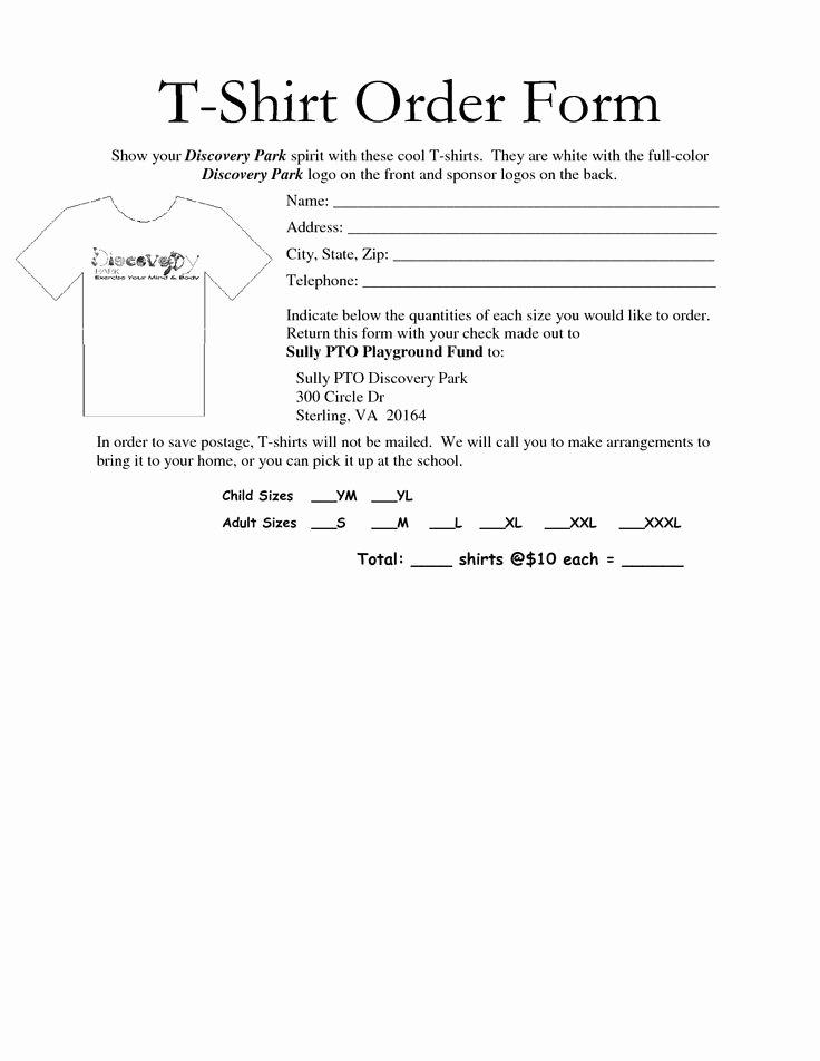 Shirt order forms Template Elegant Best 25 order form Ideas On Pinterest
