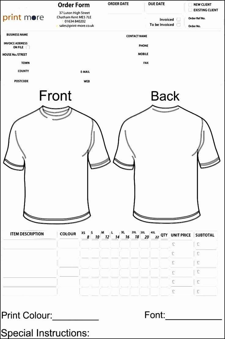 Shirt order forms Template Lovely 48 Best Sample order Templates Images On Pinterest